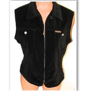 Calvin Klein Women's Cotton Velvet look Vest